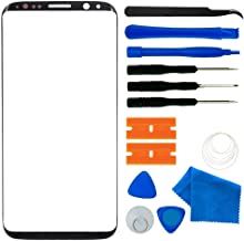 Original Galaxy S8 Plus Screen Replacement,Front Outer Lens Glass Screen Replacement Repair Kit for Samsung Galaxy S8+ G955 Series (Galaxy S8 Plus 6.2'- Black)