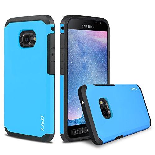 J&D Kompatibel für Galaxy Xcover 4/Galaxy Xcover 4S Hülle, [ArmorBox] [Doppelschicht] [Heavy-Duty-Schutz] Hybrid Stoßfest Schutzhülle für Samsung Galaxy Xcover 4, Samsung Galaxy Xcover 4S - Blau