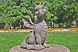 Drachen Gartenfigur Drachenkind sitzend groß