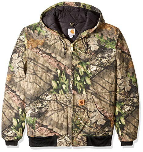 Carhartt Men's Big Big & Tall Quilted Flannel Lined Camo Active Jac, Mossy Oak Break up Country, 2X-Large/Tall