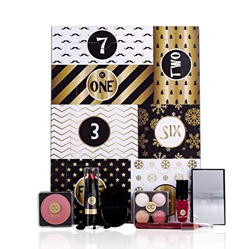 Geschenkset für Frauen Kosmetik | Schminkset mit Lippenstift Rouge Nagellack uvm. Geschenkbox |...
