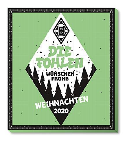 Adventskalender, Weihnachtskalender deines Bundesliga Lieblingsvereins - und Sticker Wir Leben Fußball Fairtrade (Borussia Mönchengladbach)