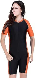 Yumiki レディース 水着 体型カバー セットフィットネス 水陸両用 オールインワン 半袖 シュノーケリング 可愛い 大きいサイズ 吸汗 速乾