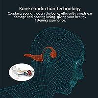 骨伝導イヤホン、BT4.2骨伝導ヘッドフォンワイヤレススポーツヘッドセットハンズフリーステレオイヤホン、マイクイヤホンアダプターイヤホン