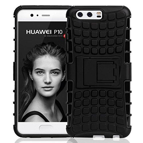 Preisvergleich Produktbild Conie OC10567 Outdoor Case Kompatibel mit Huawei P10,  Defender robuste Schutzhülle Hülle extra Schutz für P10 Hülle Schwarz