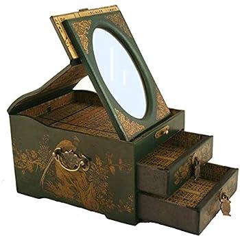 Leather Surface MZO 00-73WUUI-71 Vintage Chinese Jewelry Keepsake box W