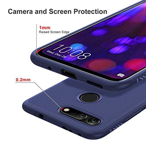 iBetter für Honor View 20 Hülle, Ultra Thin Tasche Cover Silikon Handyhülle Stoßfest Case Schutzhülle Shock Absorption Backcover Hüllen passt für Honor View 20/Honor V20 Smartphone (Blau) - 5