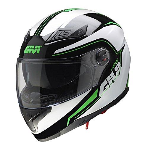 GIVI H504FSTBG60 Hps 50.4B Integral Casco con Visera, Color Negro/Verde, Talla 60/L