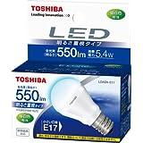 TOSHIBA E-CORE(イー・コア) LED電球(明るさ重視タイプ・密閉器具対応・フィンレス構造・口金直径17mm・ミニクリプトン電球形・小形電球40W相当・550ルーメン・昼白色) LDA5N-E17