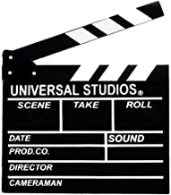 "Movie Film Clap Board, 12""x11"" Hollywood Clapper Board Wooden Film Movie Clapboard Accessory with Black & White"