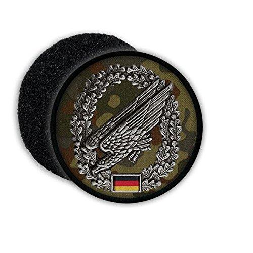Copytec Patch Fallschirmjäger Barettabzeichen Bundeswehr Flecktarn Adler Deutschland Abzeichen Wappen Aufnäher Uniform #20798