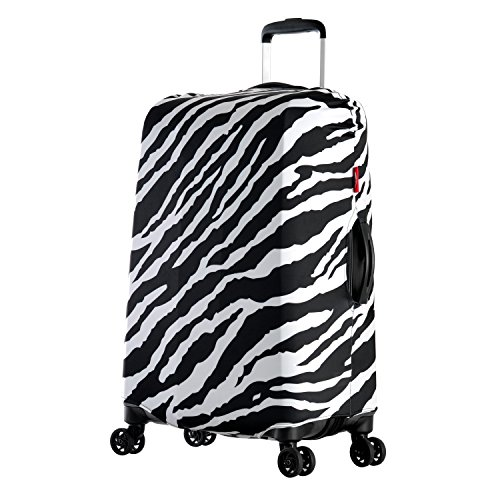Olympia Spandex Luggage Cover, Medium, Zebra, One Size