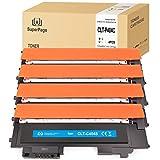 4 Superpage Compatible Cartucho de tóner Samsung CLT-P404C K404S C404S M404S Y404S para Samsung Xpress C480W C480 C430W C430 C480FW(1Negro 1Cian 1Magenta 1Amarillo)