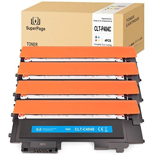 4 Superpage Compatible pour Samsung CLT-P404C K404S M404S C404S Y404S Cartouches Toner pour Samsung Xpress SL-C480 SL-C480W SL-C480FN SL-C480FW SL-C430 SL-C430W (Noir/Cyan/Jaune/Magenta)