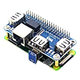 MakerFocus Raspberry Pi 4 Expansion Board Ethernet/USB HUB HAT 5V, with 1 RJ45 10/100M Ethernet Port and 3 USB Ports Compitable with Raspberry Pi 4/3B+/3B/Zero/Zero W/Zero WH