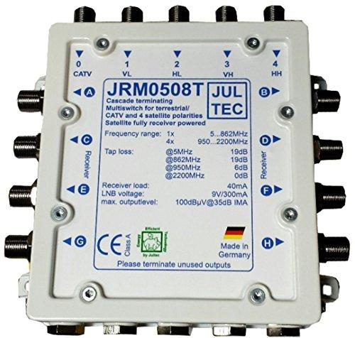 JULTEC JRM0508T Multischalter 8 Teilnehmer Receivergespeist (ohne Strom, Stromanschluss)
