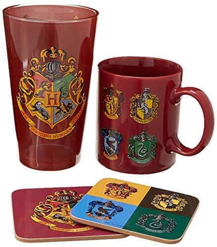 HP - Crests (Mug & Glass, 2 Coasters)