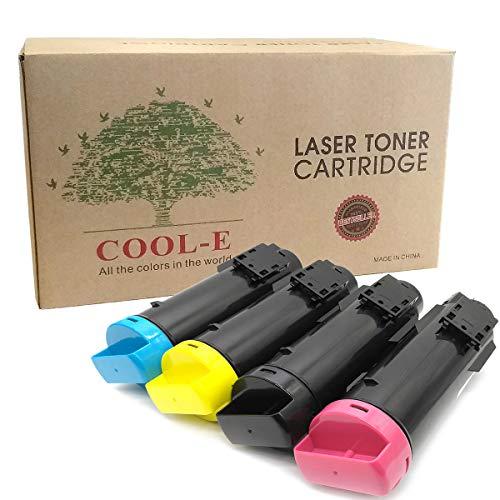 Cool-e Toner S2825 H625 H825 Cartridges Compatible for Dell 2825 Replacement High Yield 4pk Bundle Set : Black,Cyan,Yellow,Magenta (4pk Set)
