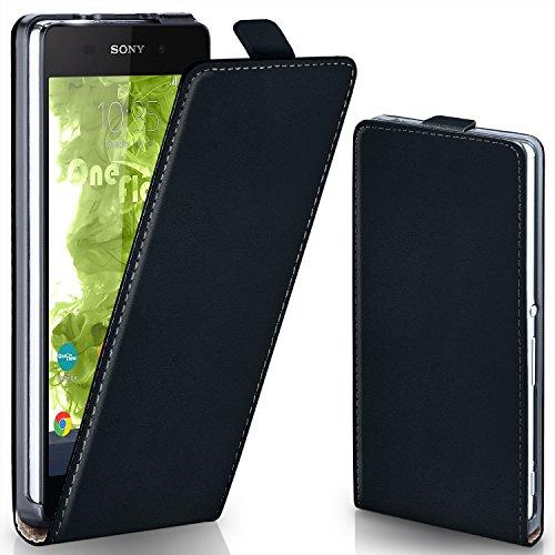 MoEx® Flipcase passend für Sony Xperia Z2 | Klapphülle Handytasche mit Rundum Schutz - Handy Hülle Klappbar Flip Case, Schwarz