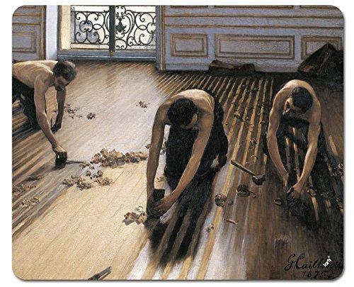 1art1 Gustave Caillebotte - Die Parkettschleifer, 1875 Mauspad 23 x 19 cm