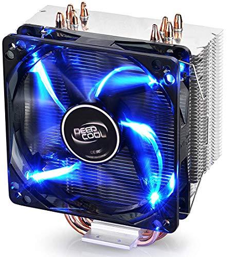 DEEP COOL GAMMAXX 400, CPU Kühler mit 4 Heatpipes, Prozessorlüfter für Intel und AMD CPUs, 120mm PWM Lüfter, Blau LED