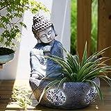 LXDDP Jardinera de la Escultura de la meditación de la Estatua del jardín del hogar de la Maceta de Buda del Zen