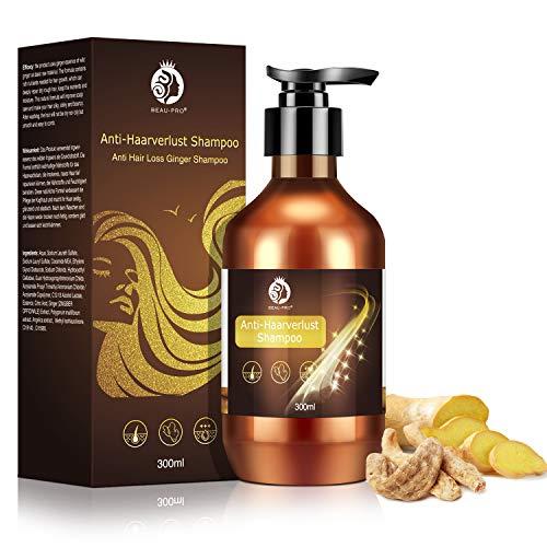 Haarwachstums Shampoo, Anti Haarausfall Shampoo Frauen Männer 300ml, Ingwer Haarshampoo Gegen Haarausfall, Anti-Haarverlust Shampoo, Haarwachstum Beschleunigen, Wachstumsfördernd, Haarbehandlung