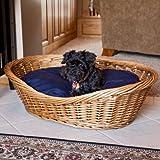 Wicker Dog Bed Basket Image