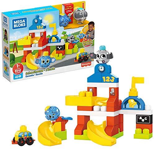 Mega Bloks- Bubù Cuccioli a Scuola, 40 Blocchi da Costruzione Giocattolo per Bambini 1+Ann, GRJ19
