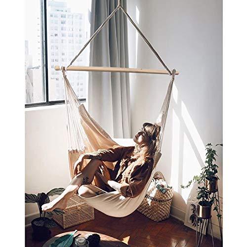 Chihee Hängematte Stuhl Große Hängematte Stuhl Entspannung Hängesessel Baumwolle Weben für Höchsten Komfort und Haltbarkeit Innen/Draußen Zuhause Schlafzimmer Terrasse Deck Hof Garten - 2
