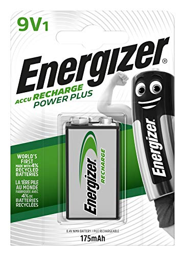 Energizer Piles Rechargeables 9V, Recharge Power Plus, Lot de 1