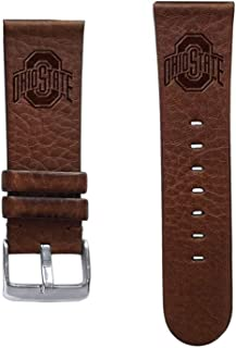 Affinity Bands Ohio State Buckeyes 22mm Premium Leather Watch Band - Compatible with Samsung, Garmin, Fossil Fitbit and More.