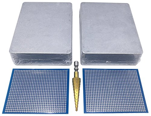 2 pcs 1590BB Enclosure Box incl. Step Drill, PCBs, Aluminum Guitar Effect Pedal Case, unpainted