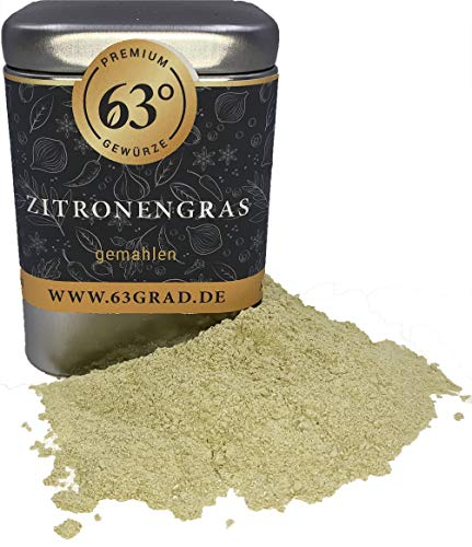 63 Grad - Zitronengras getrocknet & gemahlen - sehr aromatisch - Lemongrass