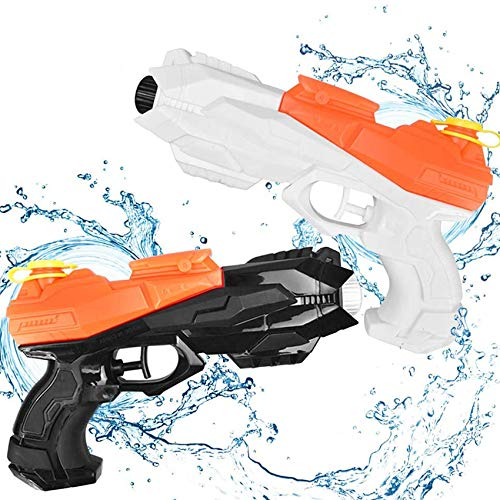 Wasserpistole Spritzpistolen Set ,wasserpistole Spielzeug,wassergewehr für Erwachsene Kinder,Water Gun,Water Blaster,wasserpistole für Strand Schwarz & weiß (Schwarz + Weiß)