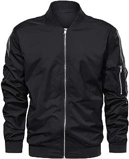 TACVASEN Men's Jacket-Lightweight Thin Sportwear Flight Bomber Softshell Coat Outwear