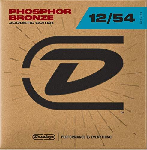 Dunlop DAP1254 Acoustic Phosphor Bronze Guitar Strings, Light, .012–.054, 6 Strings/Set