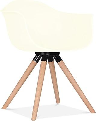 Kave Home - Silla de Comedor Blanca Ralf de plástico con ...