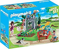 Features a cosy garden for the family of 3 to enjoy With flowers which can be picked Children can reach the top of the play castle via the ladder With many animals and accessories Encourages learning through interactive play