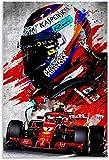 HuGuan Leinwand Druck Poster Kimi Räikkönen finnischer
