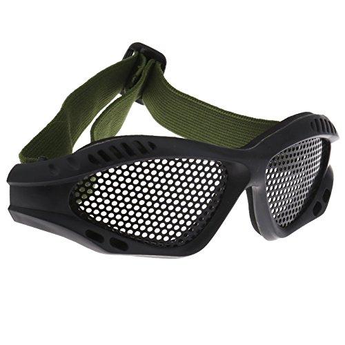 Gafas tácticas de protección de ojos para airsoft, caza, arena, malla de metal