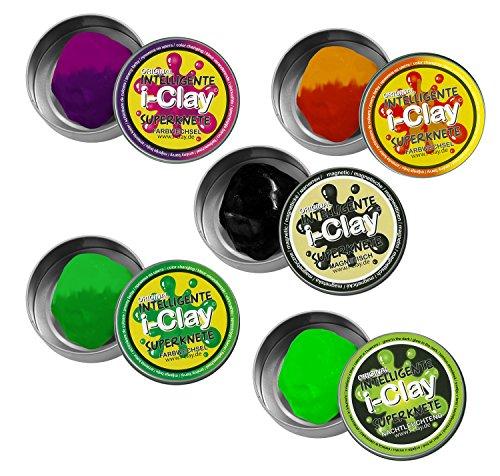 I de Clay 59448inteligente superknete, farbwechselnd, brillan en la oscuridad, magnético, surtidos