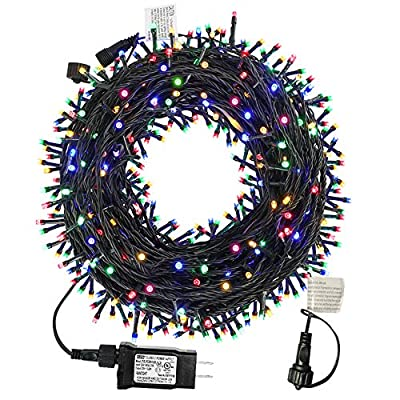 MZD8391 200 LED String Lights, 82FT LED Color Changing White Warm White Fairy Lights, Dimmable Christmas String Lights Outdoor With Remote & Timer