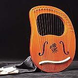 lyakin portatile a 19 corde, arpa, lira in mogano, strumento a corde, con bacchetta di accordatura, borsa, regalo per bambini principianti, strumento di intrattenimento,g