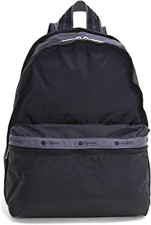 LeSportsac Heritage Jet Black Basic Backpack/Rucksack, Style 7812/Color F630, 45th Anniversary Collection, 2 Tone Jet Blac...