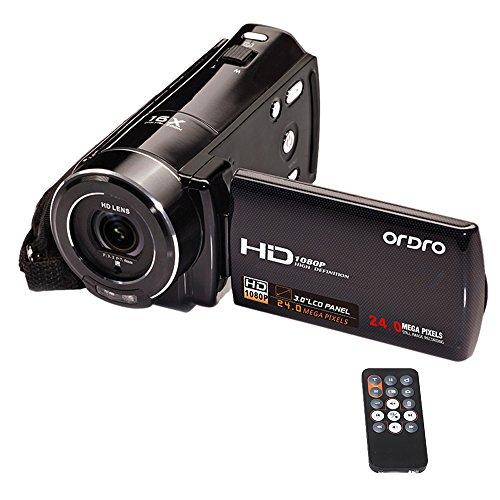 Ordro Hdv-V7 Full Hd 1080 P 24 Megapíxeles Cámara Digital de Vídeo...