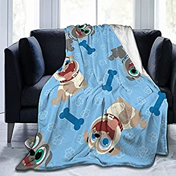 Puppy Dog Pals Blanket Soft Comfortable and Warm Flannel Blankets Living Room Bedroom Sofa Bed All Seasons 5040in