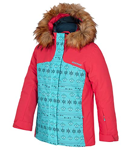 Ziener Mädchen Skijacke Schneejacke Winterjacke Hood Jacket Asina 187924, Größe:176