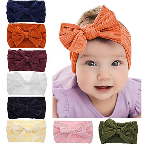 Baby Headbands Turban Knotted, Girl's Hairbands for Newborn,Toddler and Childrens (8 Pack-cl25)