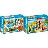 Playmobil 9422 - Swimmingpool Spiel &  9423 - Großer Spielplatz Spiel